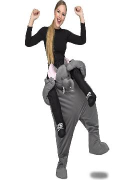 disfraz de elefante a hombros para adultos