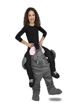disfraz de elefante a hombros para niños