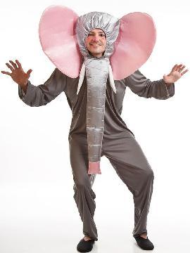 disfraz de elefante divertido adulto. Es un buen momento para lucir tu trompa con el disfraz de elefante adulto,conviértete en el mejor amigo de tarzan. Este disfraz es ideal para tus fiestas temáticas de disfraces de animales para hombre adultos.