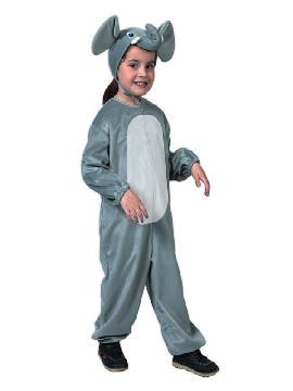 disfraz de elefante infantil barato. Compra tu disfraz barato y se convertirán los más pequeños de la casa en grandes animales de la selva en sus Fiestas Escolares.