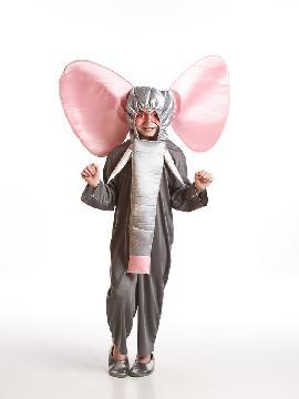 Disfraz de elefante gris para infantil.tu hijo será el perfecto dumbo con este disfraz de elefante infantil en sus fiestas.Este disfraz es ideal para tus fiestas temáticas de disfraces de animales para niños.