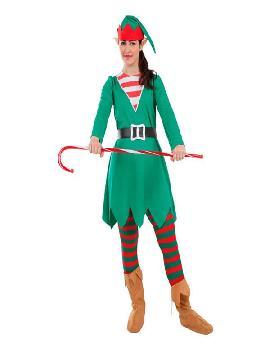 disfraz de elfa de la navidad para mujer