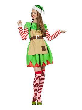 disfraz de elfa navidad para mujer