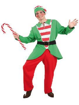 Disfraz de Elfo adulto. Lo pasarán de muerte asustando a los pequeños en la noche de Terror y halloween. Este disfraz es ideal para tus fiestas temáticas de miedo y elfos para adulto