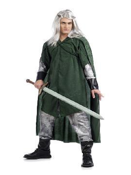 disfraz de elfo legolas para hombre. Ideal para emular al elfo Legolas del Señor de los Anillos. Este disfraz también podría valer como disfraz medieval y es ideal para ferias y fiestas medievales para adulto, fabricación nacional