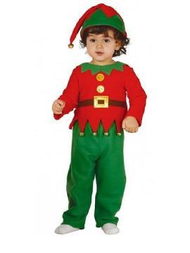disfraz de elfo para bebe. Le quedará ideal a los niños que quieren ayudar a Papá Noel, guiando el trineo y cuidando los renos, en los festivales de navidad, fiestas temáticas y carnaval.