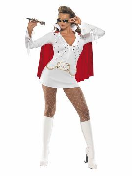 disfraz de elvis viva las vegas blanco mujer