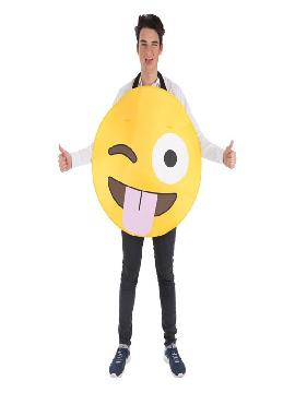 disfraz de emoticono guiño para adultos