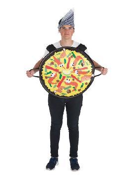 disfraz de emoticono paella para adultos