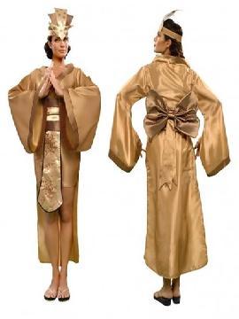 disfraz de emperatriz china mujer. Si siempre te has sentido atraida por la cultura orienta con este traje de oriental, te integrarás en el ambiente del lejano oriente. Este disfraz es ideal para tus fiestas temáticas de disfraces de ninja,chinos,orientales y geishas adulto pareja o familias