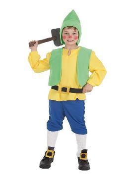 disfraz de enanito amarillo para niño