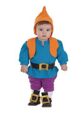 disfraz de enanito azul para bebe