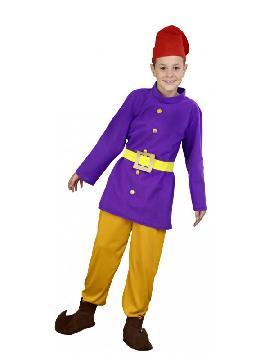 disfraz de enanito morado niño