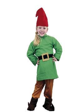 Disfraz de Enanito verde infantil. Este comodísimo traje es perfecto para carnavales, espectáculos, cumpleaños.Este disfraz es ideal para tus fiestas temáticas de disfraces cuentos populares,famosos y músicos para niños infantiles.