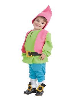 disfraz de enanito verde para bebe