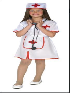 Disfraz de enfermera barato para niña. Te convertirás en la cuidadora más cariñosa en tus festivales escolares,carnaval. Este disfraz es ideal para tus fiestas temáticas de disfraces de enfermeras niñas infantiles.