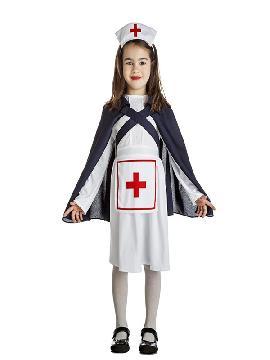 disfraz de enfermera con capa niña