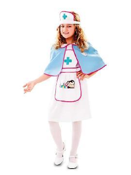 disfraz de enfermera con monito para niña