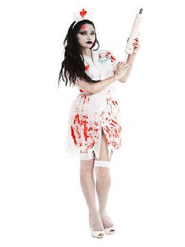disfraz de enfermera zombie mujer