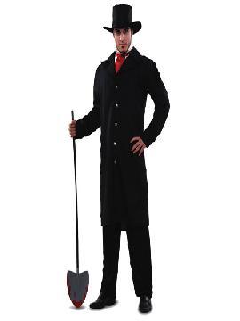 disfraz de enterrador hombre