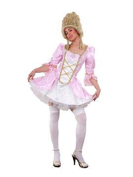disfraz de época lady versalles rosa mujer