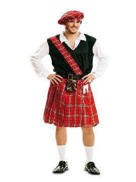 disfraz de escoces tradicional para hombre