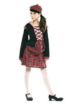 disfraz de escocesa para niña