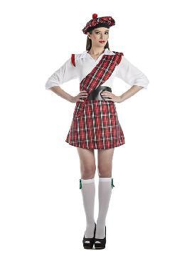 disfraz de escocesa sexy mujer