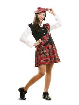 disfraz de escocesa tradicional para mujer