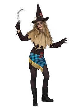 disfraz de espantapajaros siniestro para mujer