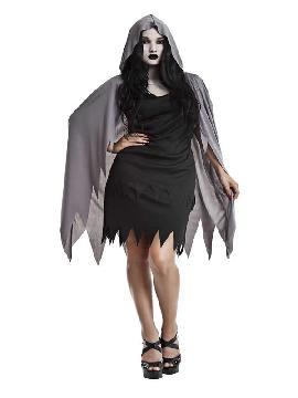 disfraz de espectro guadañas mujer