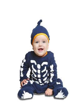disfraz de esqueleto azul para bebe