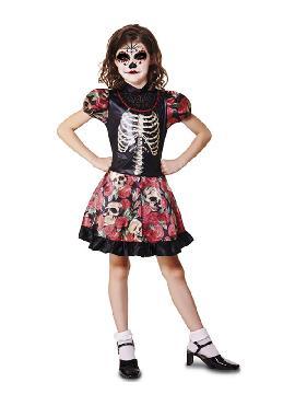 disfraz de esqueleto catrina para niña
