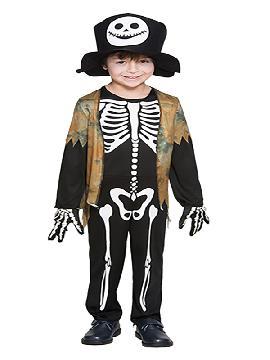 disfraz de esqueleto con chaleco niño