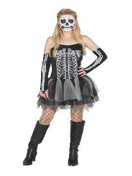 disfraz de esqueleto con tutu para mujer