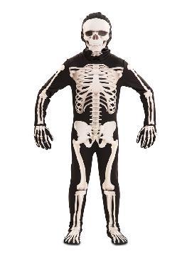 disfraz de esqueleto deluxe infantil