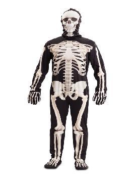 disfraz de esqueleto deluxe para hombre