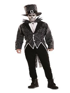 disfraz de esqueleto elegante hombre