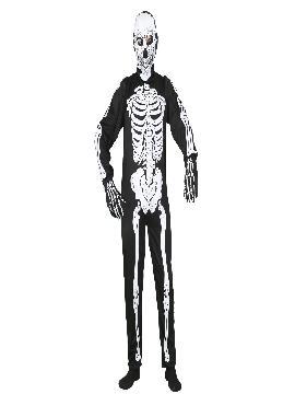 Disfraz de esqueleto para hombre. Es ideal para tus Fiesta Temática del Terror o para la noche de Halloween. Este disfraz es ideal para tus fiestas temáticas de disfraces de esqueletos y miedo para adultos.