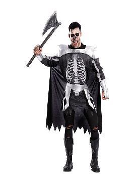disfraz de esqueleto medieval para hombre
