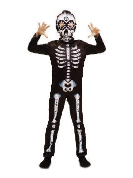 disfraz de esqueleto para halloween niño