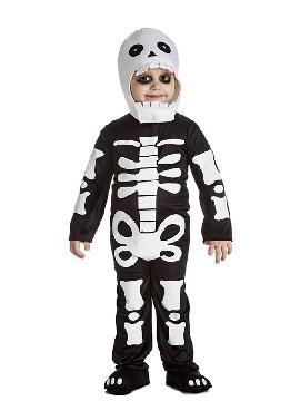 disfraz de esqueleto para niño. Es muy cómodo para vestir a los mas pequeños de la casa, y que puedan hacer mil travesuras en las fiestas temáticas de las guarderías, en halloween. Es ideal para tus fiestas temáticas de disfraces de miedo y esqueleto infantiles.