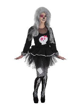 disfraz de esqueleto skeleta para mujer