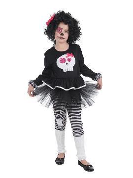 disfraz de esqueleto skeleta para niña