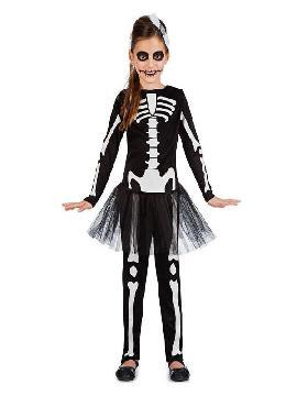 disfraz de esqueleto tutu para niña