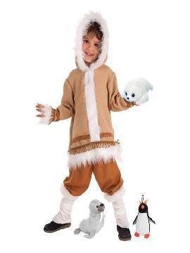 disfraz de esquimal con peluche surtido para niño
