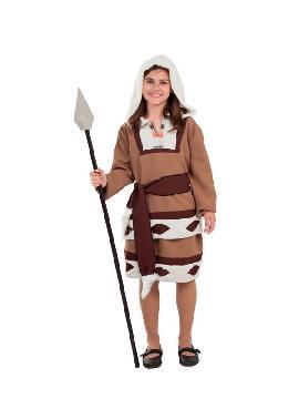 disfraz de esquimal marron para niña