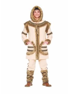 disfraz de esquimal siberiano hombre