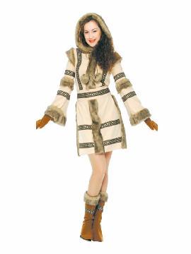 disfraz de esquimal siberiana mujer
