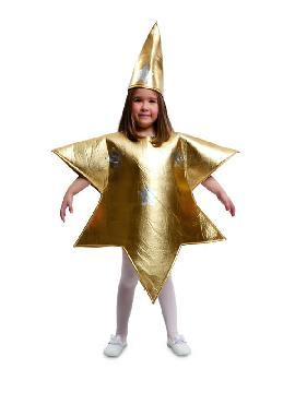 disfraz de estrella dorada infantil